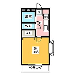 アンプルール ブワ Nakamise[2階]の間取り