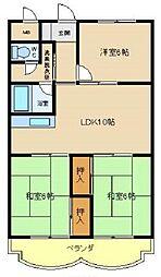 兵庫県明石市貴崎3丁目の賃貸マンションの間取り