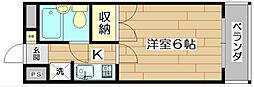 ハイツオーキタ土橋[4階]の間取り