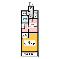 コンフォートベネフィス平尾[2階]の間取り