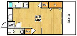 山本マンション[A102号室]の間取り