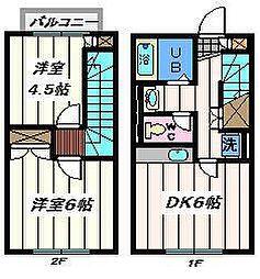 東京都足立区神明3丁目の賃貸アパートの間取り