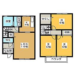 フラワーコート A棟[2階]の間取り