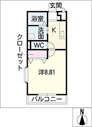 アンプルールリーブルすみれII[2階]の間取り