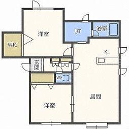 シレンハイム[2階]の間取り