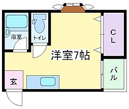コーポアイザワ[2階]の間取り