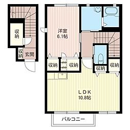 ホリデイハウスF[2階]の間取り