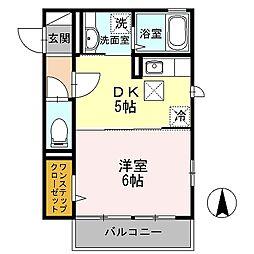 D-room ディオネ茅ヶ崎[1階]の間取り