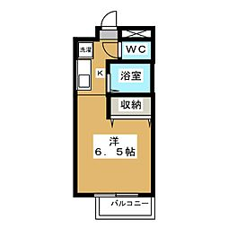 ボナール椥ノ辻[3階]の間取り