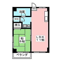 大橋中央ビル[4階]の間取り