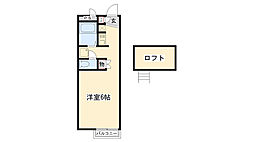兵庫県尼崎市食満3丁目の賃貸アパートの間取り