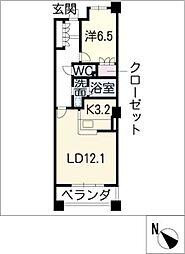 パークアクシス白壁[14階]の間取り