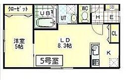 仮称)札幌市中央区北1条東8丁目MS[205号室]の間取り