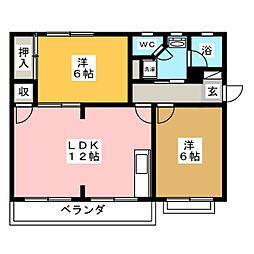 プチエールマンション[3階]の間取り