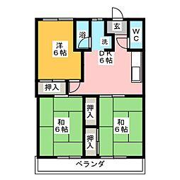 メゾンソレイユ[3階]の間取り