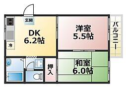 カーサ24[1階]の間取り