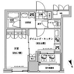JR山手線 池袋駅 徒歩2分の賃貸マンション 11階1DKの間取り