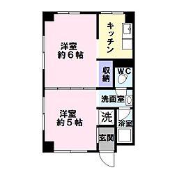 誠和マンション[2階]の間取り