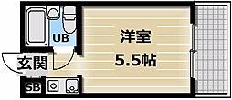 ロータリーマンション永和[7階]の間取り
