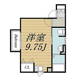 千葉県佐倉市表町3丁目の賃貸アパートの間取り