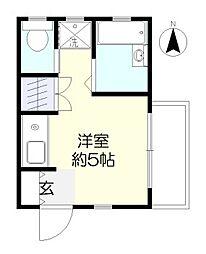 石井マンション[1階]の間取り