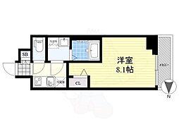 メイクス錦糸町 2階1Kの間取り