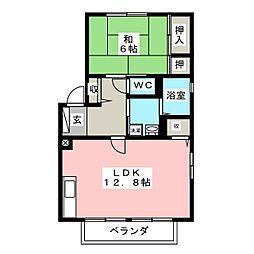 ボナール西口 B棟[2階]の間取り