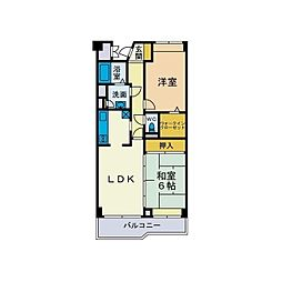 内藤マンションA棟[4階]の間取り