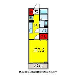 メゾンジェルメ[2階]の間取り