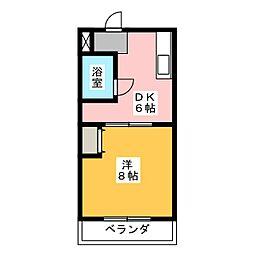 サンメイト可美[1階]の間取り