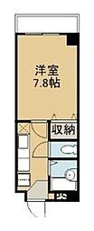 コンフォート松川(CK) 6階1Kの間取り