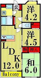 仮称)西新井マンション[203号室]の間取り