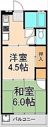 岡田マンション[302号室]の間取り