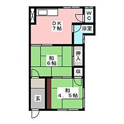 川口アパート[1階]の間取り