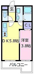 プレミアムスイート狭山駅前 1階1DKの間取り