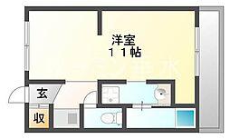 ハイツ神和[5階]の間取り