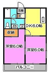 ツインヒルI[2階]の間取り
