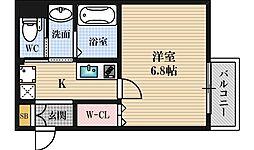 Monotone淡路[2階]の間取り