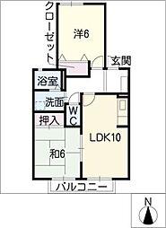 ドルフ−ハイム岡 A棟[2階]の間取り
