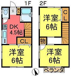 東新小岩4丁目貸家 1階3DKの間取り