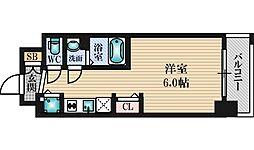 プレサンス新大阪コアシティ 9階1Kの間取り