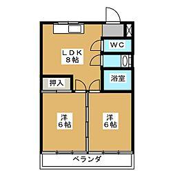 熊谷ビル[3階]の間取り