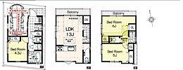 建物参考プラン:間取り/3LDK、延床面積/68.26m2、土地建物参考価格/6280万円(税込)