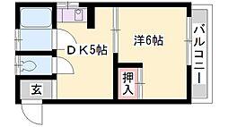 ピアハイツ[3階]の間取り