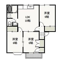 岡山県岡山市東区可知5丁目の賃貸アパートの間取り