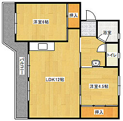 ビレッジハウス飯塚 2号棟[4階]の間取り