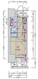 名古屋市営鶴舞線 丸の内駅 徒歩7分の賃貸マンション 10階1Kの間取り