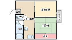 丸井マンション[3階]の間取り