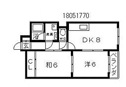 コトブキエステート[1階]の間取り