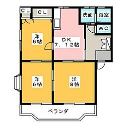 コロラトゥーラB[1階]の間取り